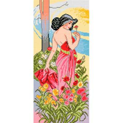 1705J ORCHIDEA Канва с нанесенным рисунком 25х51 см