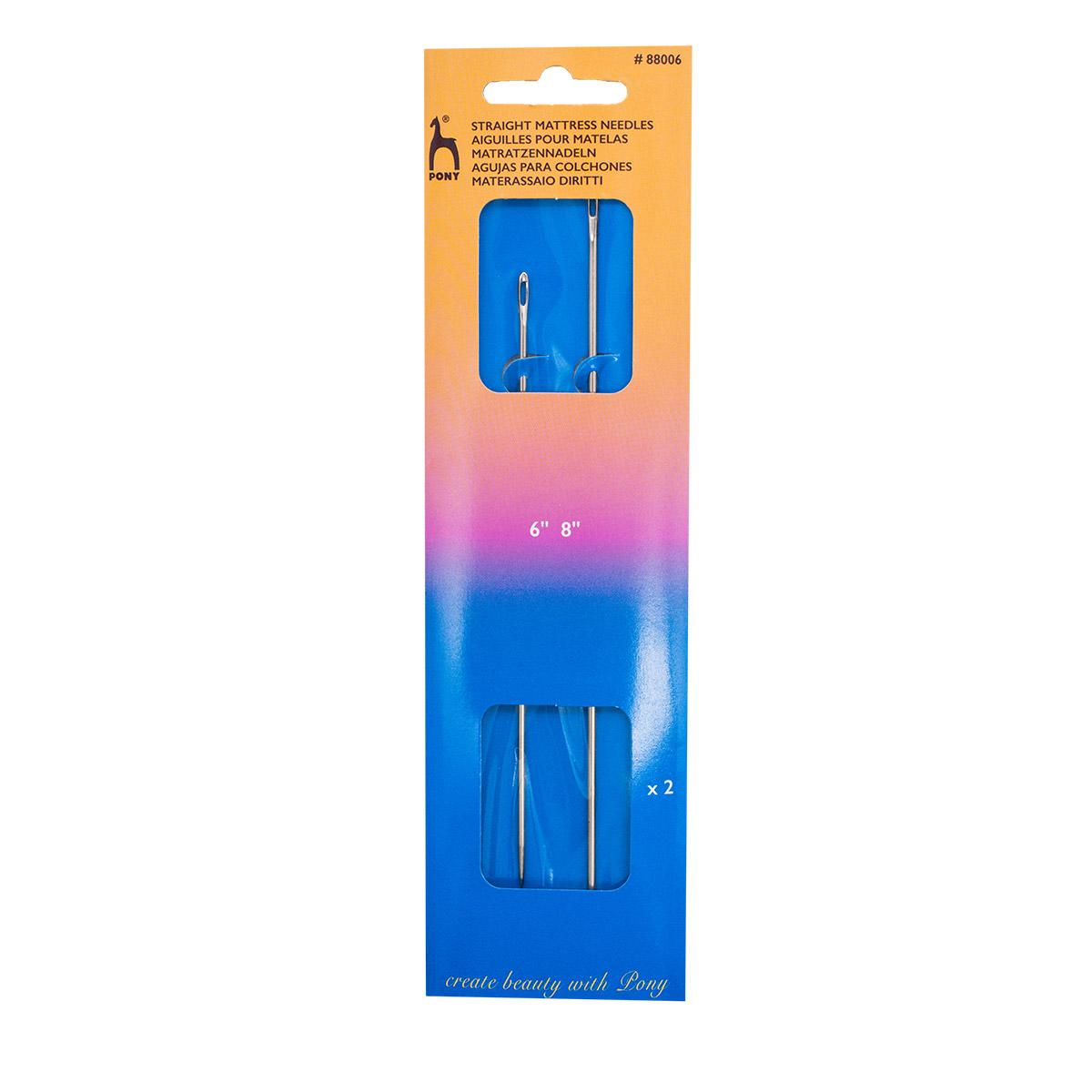 88006 Иглы ремесленные прямые для мебельной обивки № 6, 8, 2 шт PONY
