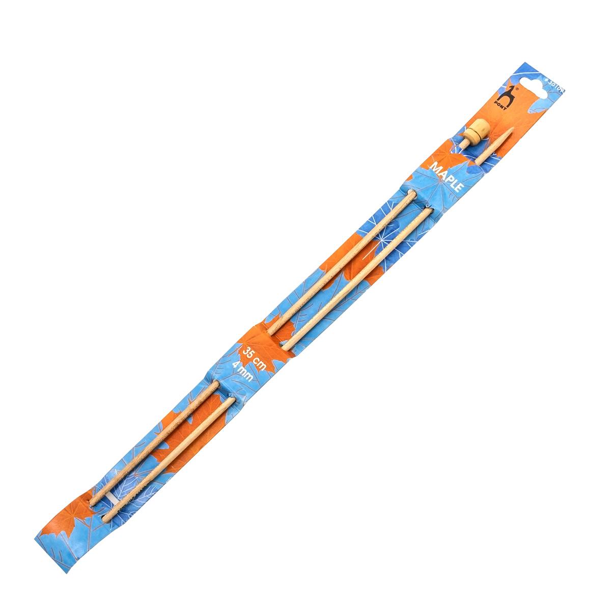 30109 PONY Спицы прямые 4,00 мм/ 35 см, клен, 2 шт.