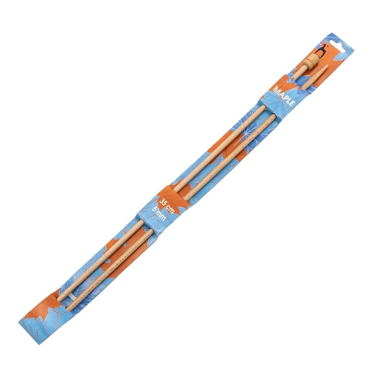 30111 Спицы прямые 5,00 мм/ 35 см, клен, 2 шт PONY