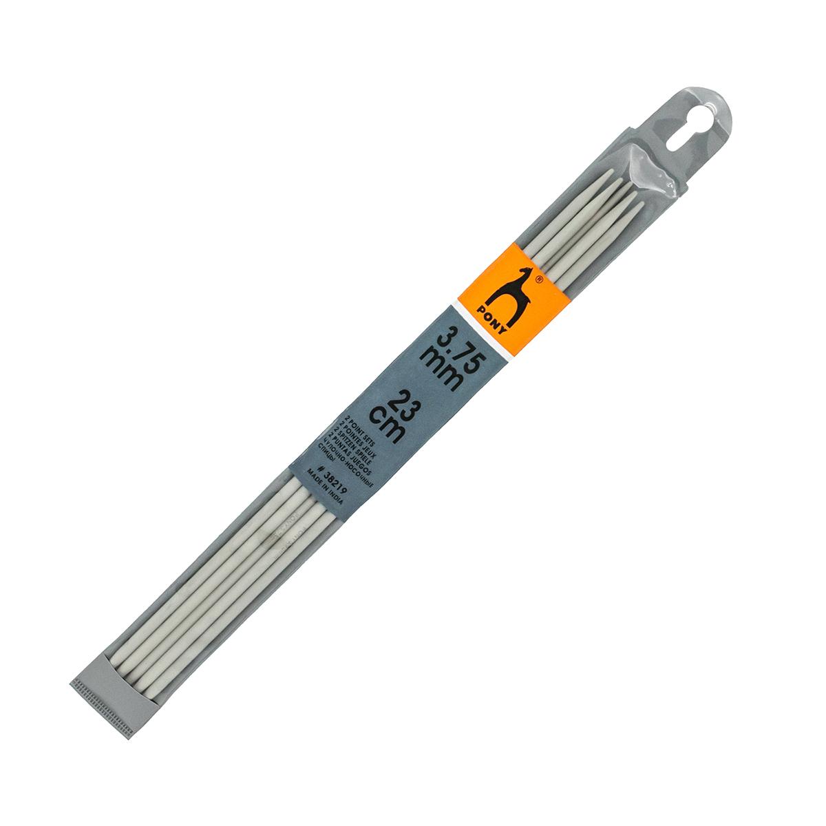 38219 Спицы чулочные 3,75 мм/ 23 см, алюминий, 5 шт PONY