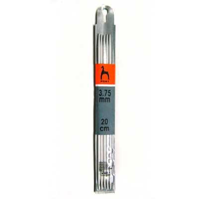 36219 Спицы чулочные 3,75 мм/ 20 см, алюминий, 5 шт PONY