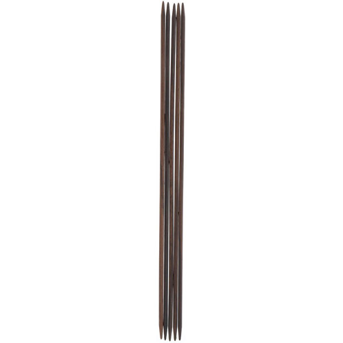36901-02 Спицы чулочные 2,00 мм/ 15 см, розовое дерево, 5 шт PONY