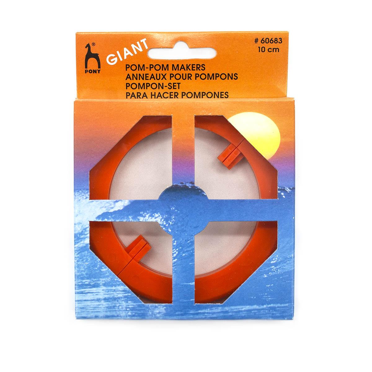 60683 PONY Устройство для изготовления помпонов, разъемное, 10 см, 2 шт.