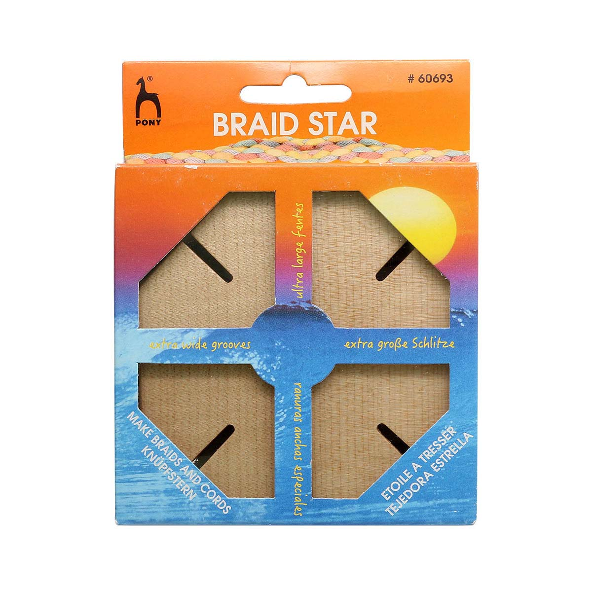 60693 Устройство для плетения шнуров 'звезда', плоское PONY