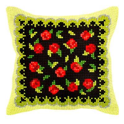 9304 ORCHIDEA Набор для вышивания подушка 40х40 см