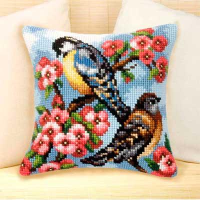 9021 ORCHIDEA Набор для вышивания подушка 40х40 см