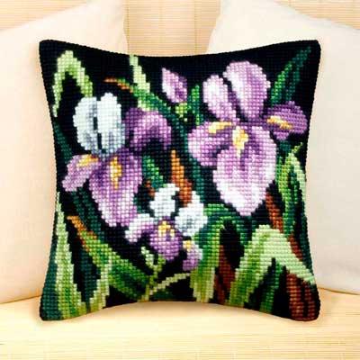 9076 ORCHIDEA Набор для вышивания подушка 40х40 см