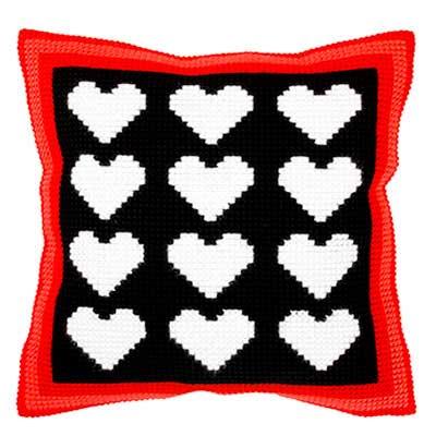 9315 ORCHIDEA Набор для вышивания подушка 40х40 см