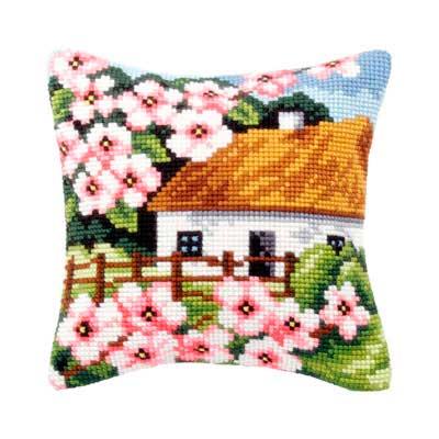9126 ORCHIDEA Набор для вышивания подушка 40х40 см