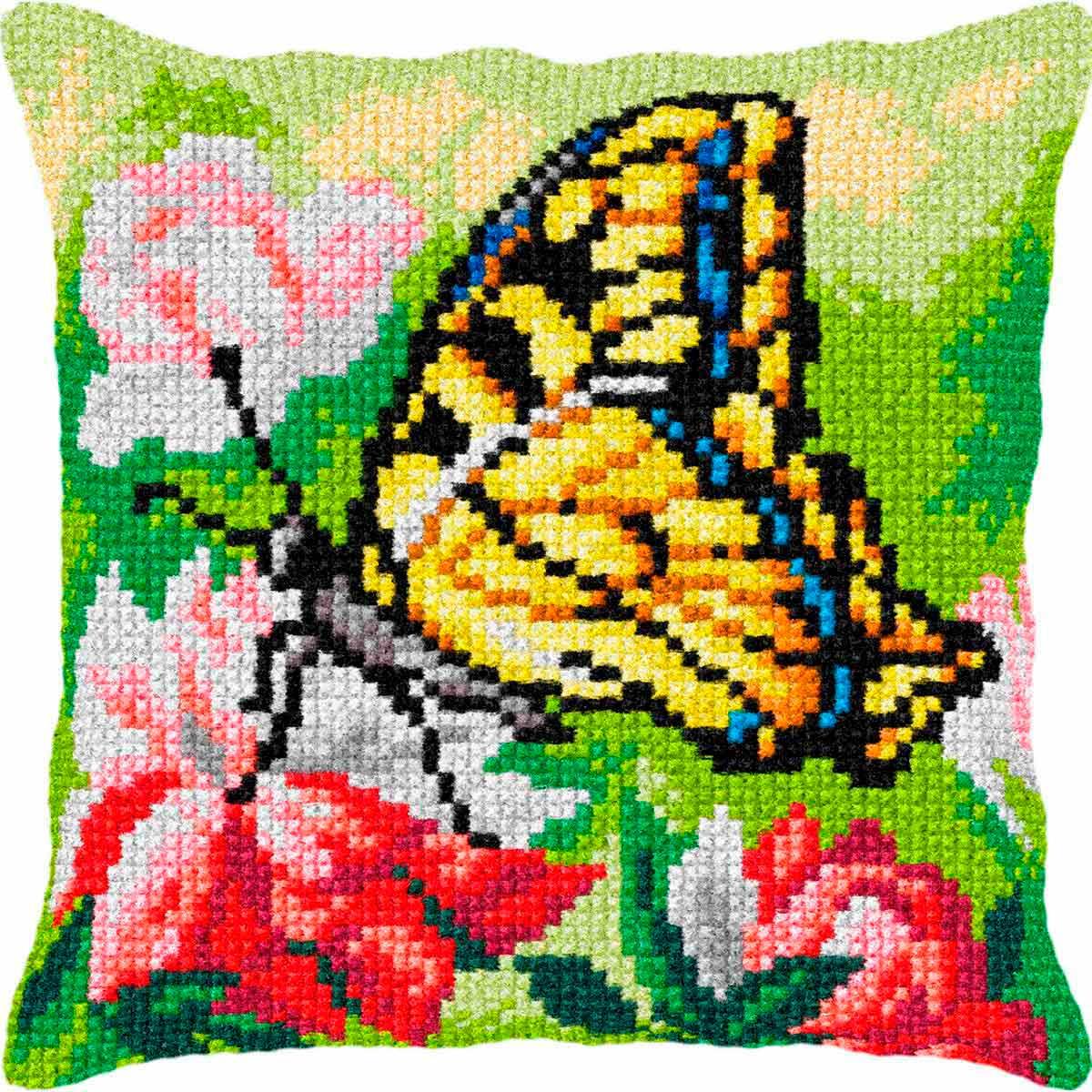 9367 ORCHIDEA Набор для вышивания подушка 40х40 см