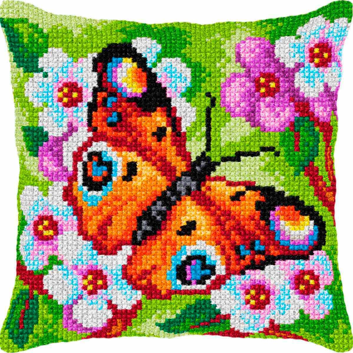 9379 ORCHIDEA Набор для вышивания подушка 40х40 см