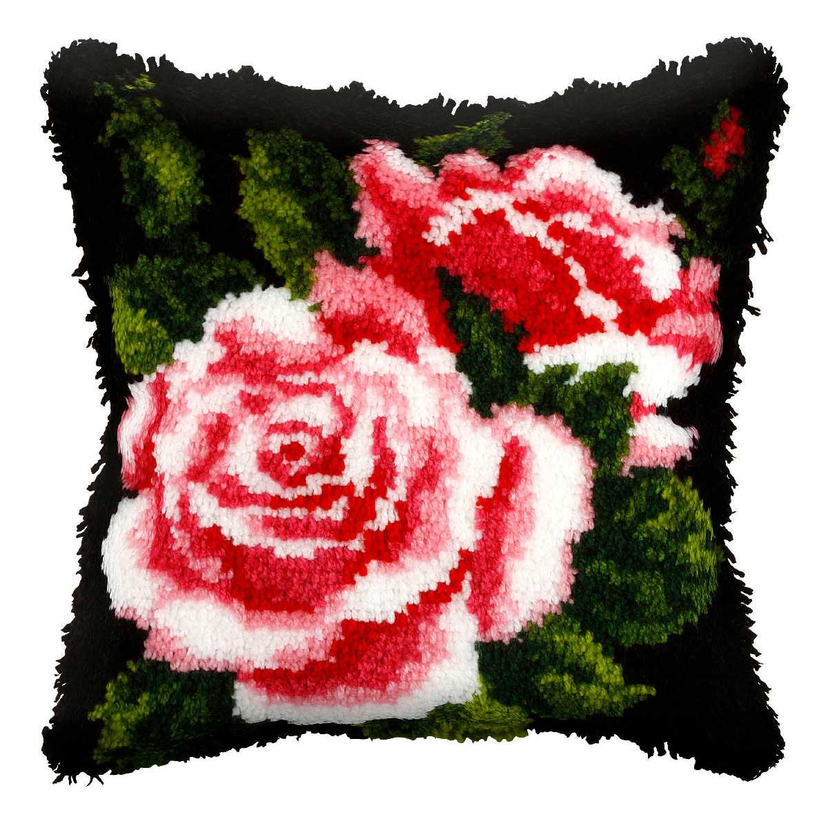 4053 ORCHIDEA Набор для вышивания в ковровой технике (подушка) 40х40 см