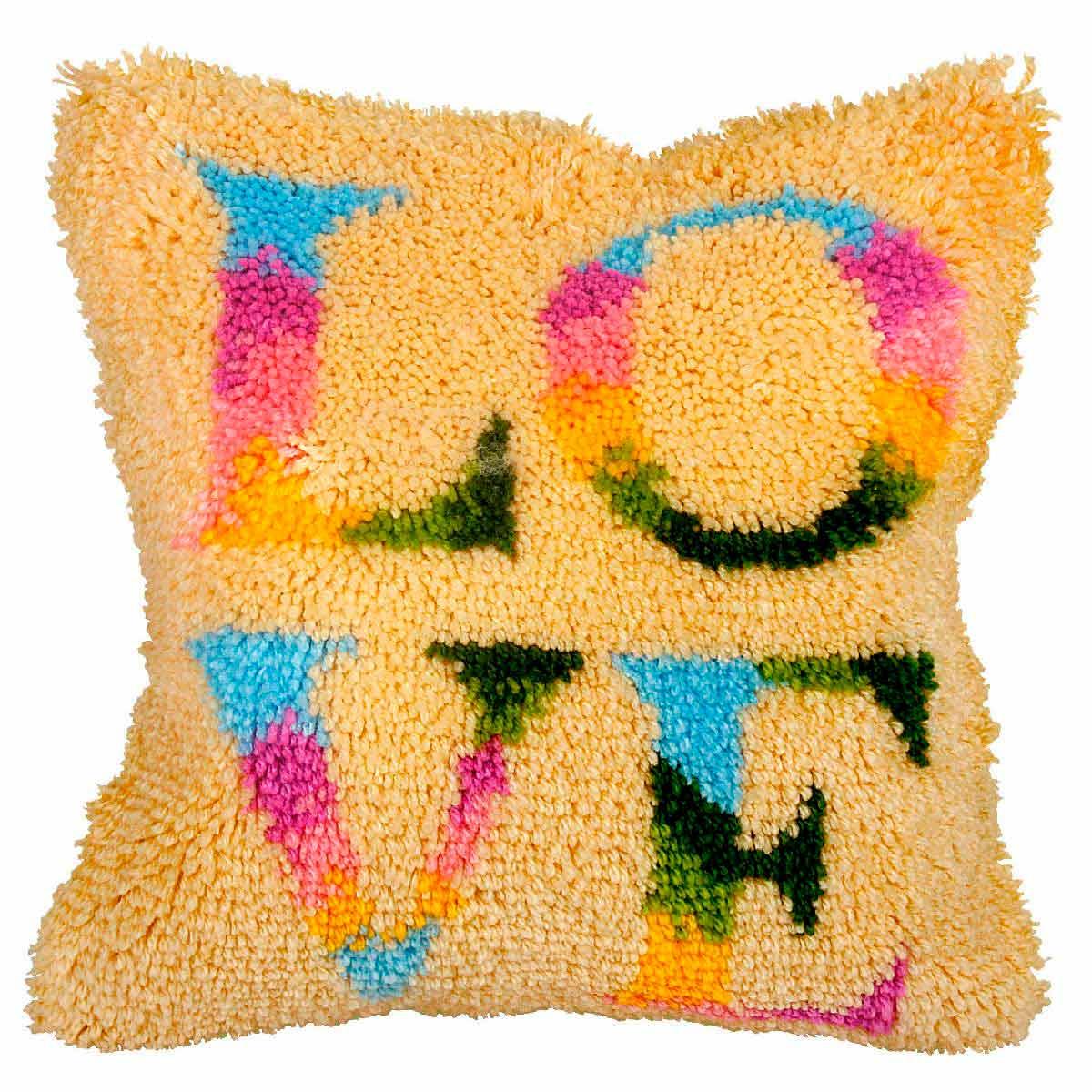 4073 ORCHIDEA Набор для вышивания в ковровой технике (подушка) 40х40 см