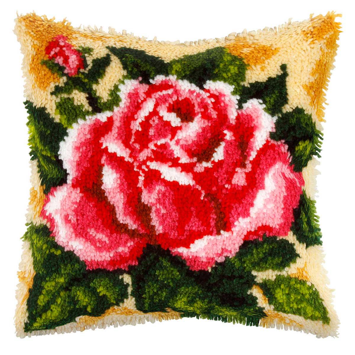 4085 ORCHIDEA Набор для вышивания в ковровой технике (подушка) 40х40 см