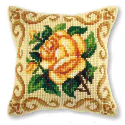 9165 ORCHIDEA Набор для вышивания подушка 40х40 см