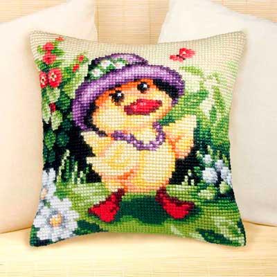 9027 ORCHIDEA Набор для вышивания подушка 40х40 см