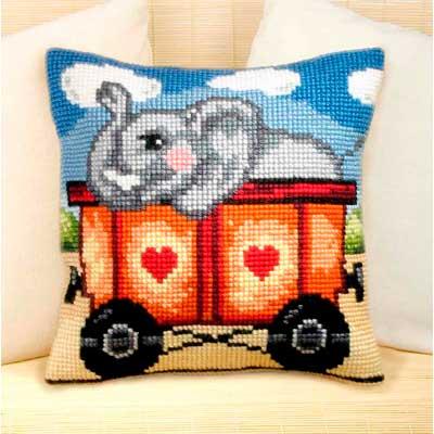 9084 ORCHIDEA Набор для вышивания подушка 40х40 см