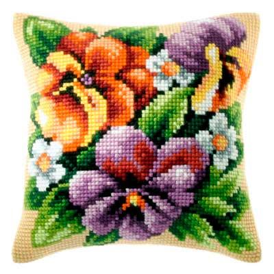 9139 ORCHIDEA Набор для вышивания подушка 40х40 см