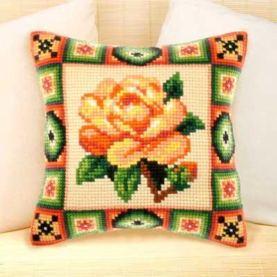 9174 ORCHIDEA Набор для вышивания подушка 40х40 см