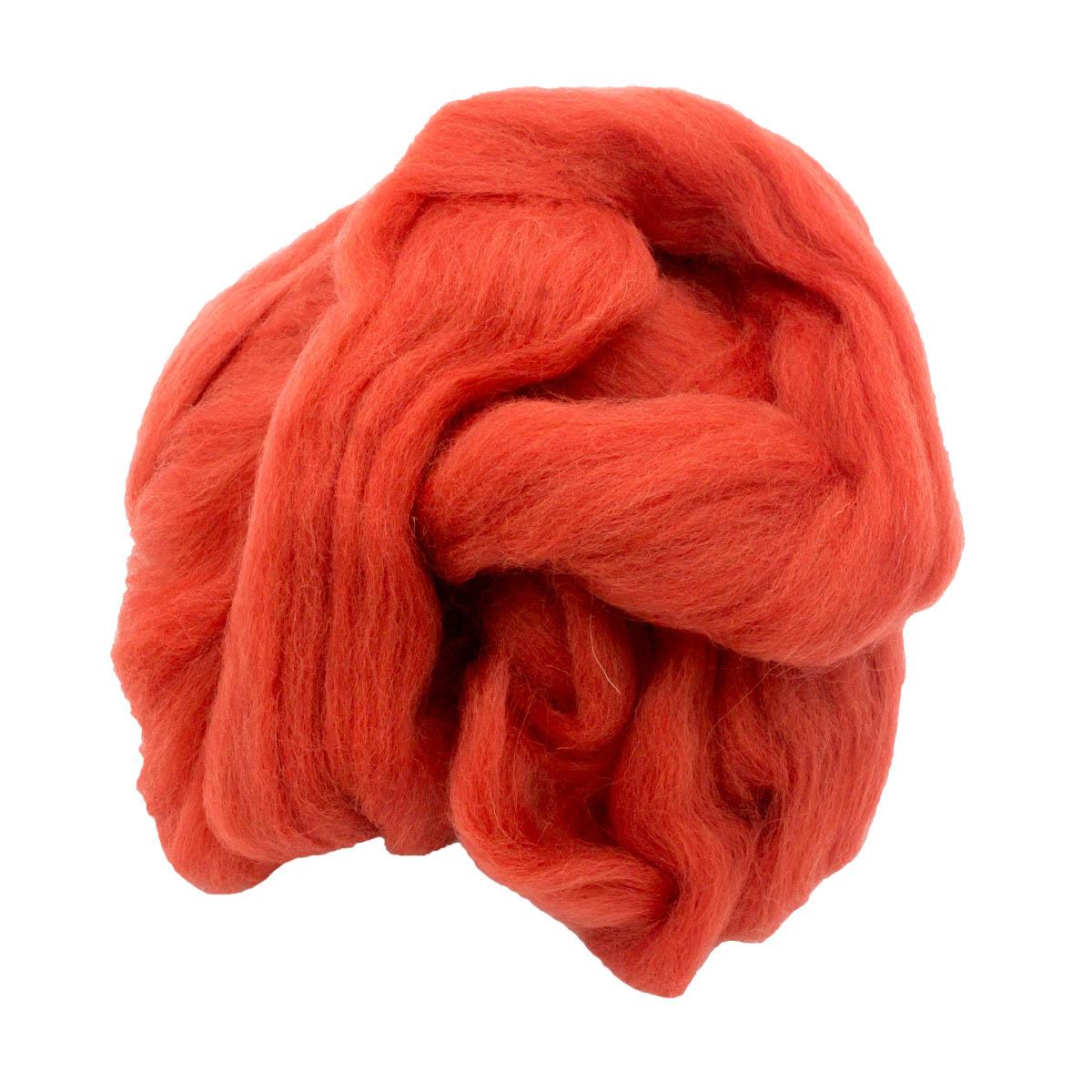 84311-2 ORCHIDEA Шерсть для валяния, цвет брусничный, 50 г