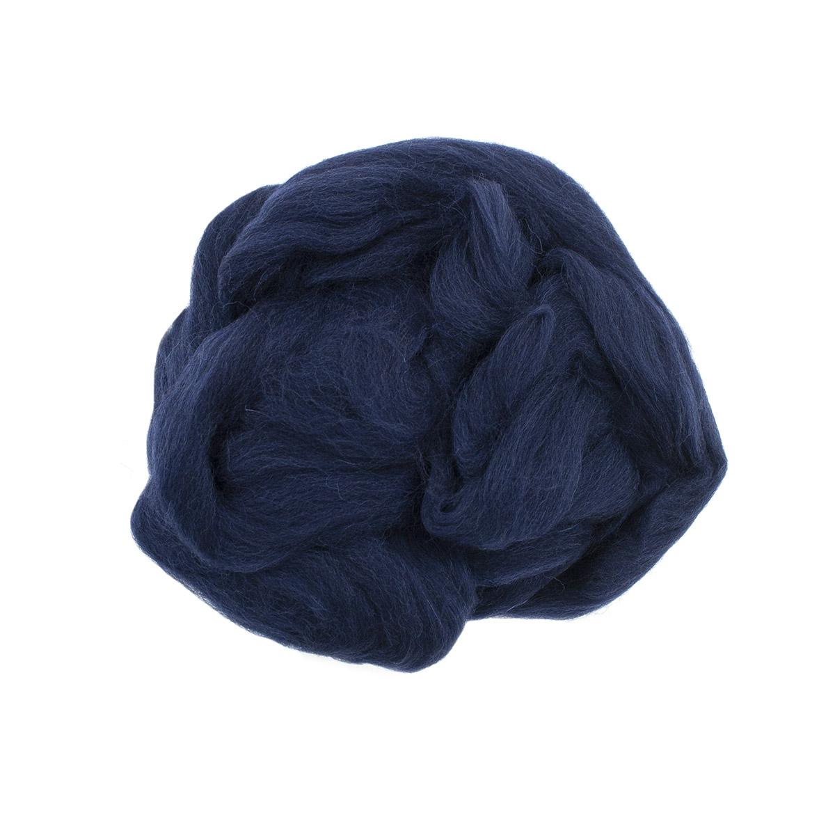 84308-2 ORCHIDEA Шерсть для валяния, цвет темно-синий, 50 г
