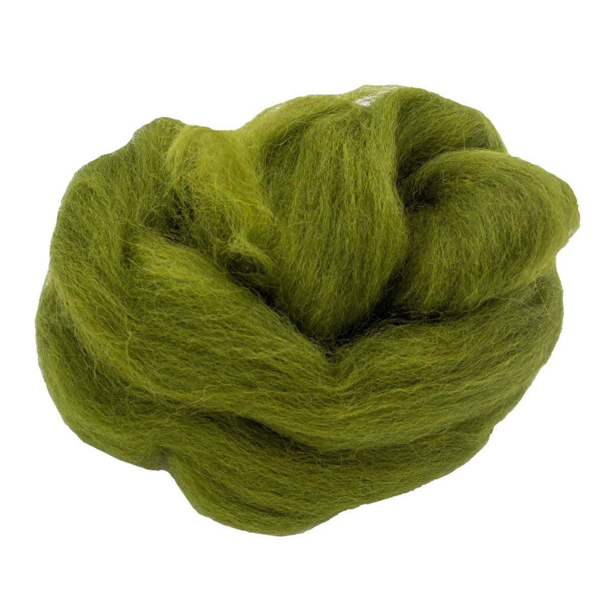 84312-1 ORCHIDEA Шерсть для валяния, цвет лимонно-зеленый, 10 г