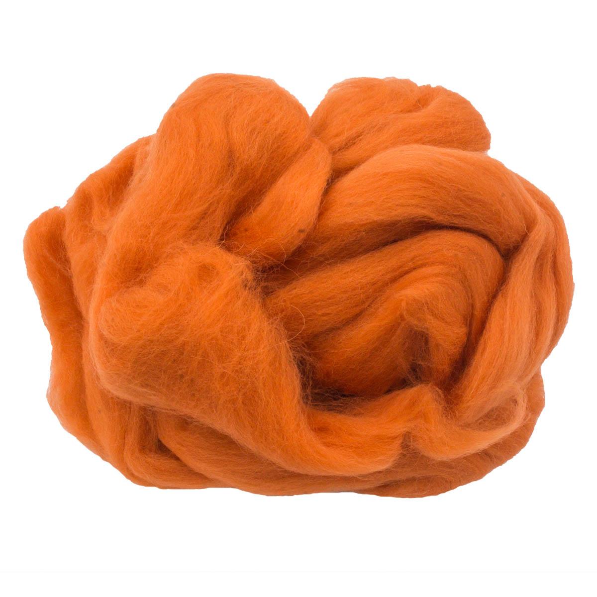 84305-2 ORCHIDEA Шерсть для валяния, цвет оранжевый, 50 г