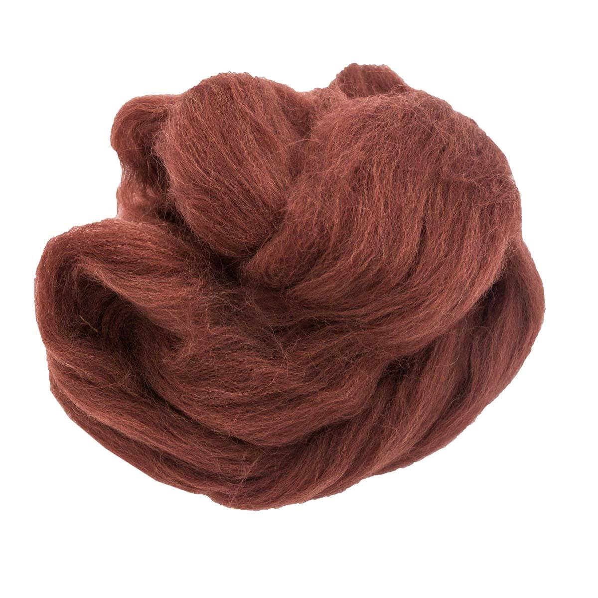 84306-1 ORCHIDEA Шерсть для валяния, цвет шоколадный, 10 г