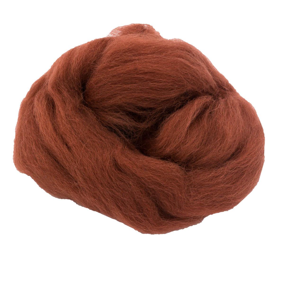 84310-1 ORCHIDEA Шерсть для валяния, цвет красно-коричневый, 10 г