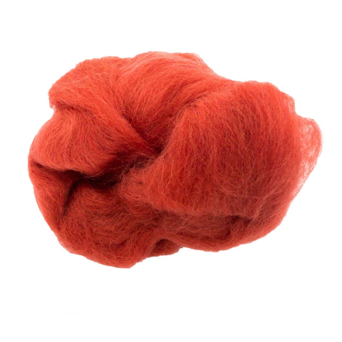 84311-1 ORCHIDEA Шерсть для валяния, цвет брусничный, 10 г