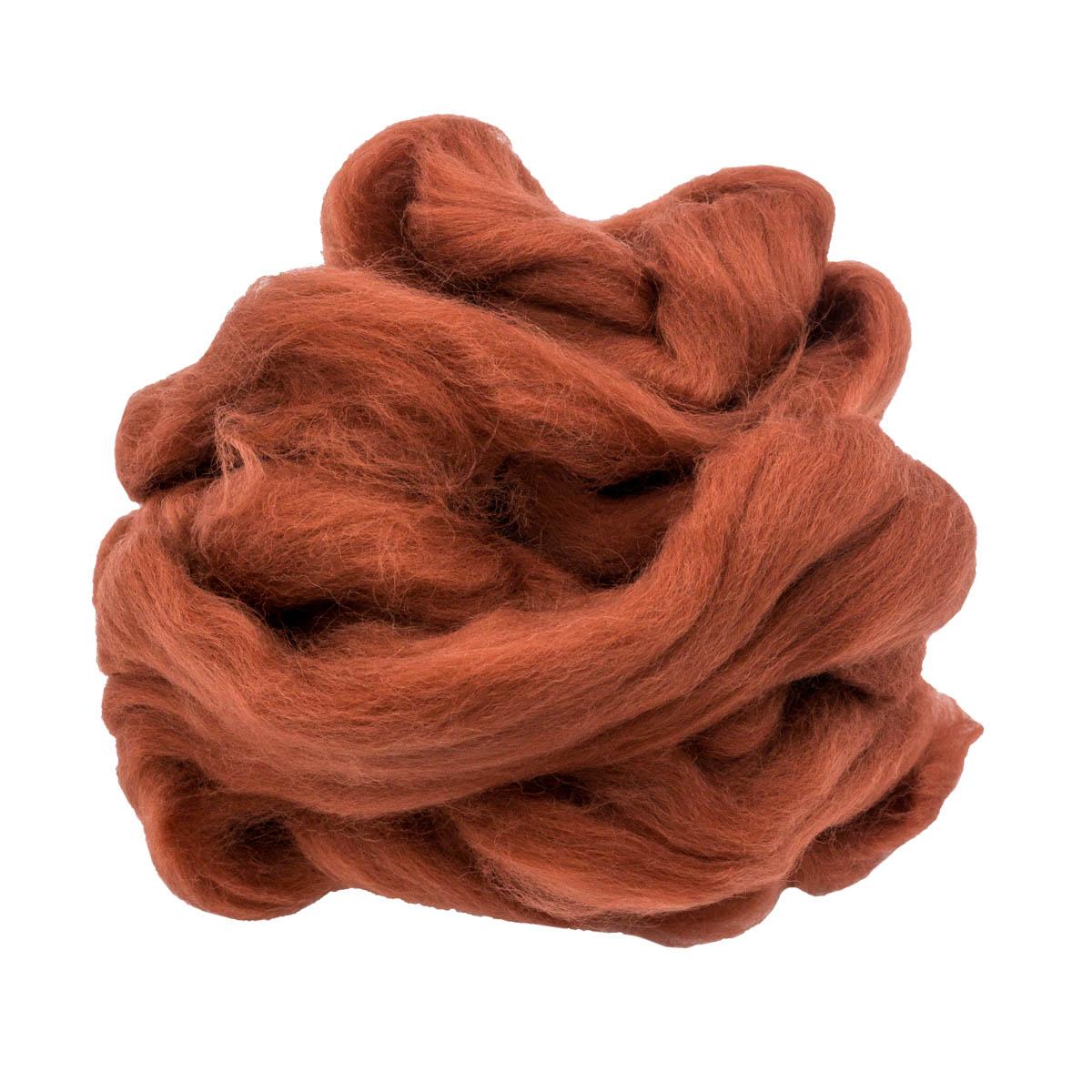84310-2 ORCHIDEA Шерсть для валяния, цвет красно-коричневый, 50 г
