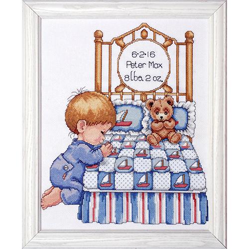 T21710 DWC Набор для вышивания 'Вечерняя молитва мальчика' 28х35 см