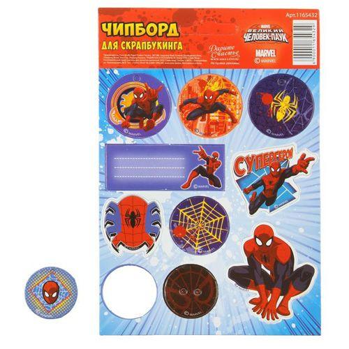 1165432 Чипборд вырубной для скрапбукинга 'Супергерой' Человек-Паук
