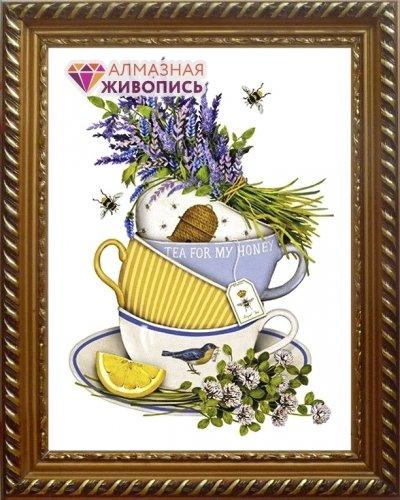 АЖ-1432 Картина стразами 'Чайный натюрморт' 30*40см