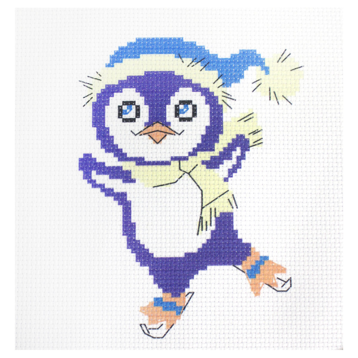 223 Набор для вышивания Василиса 'Пингвинчик' 19*19см