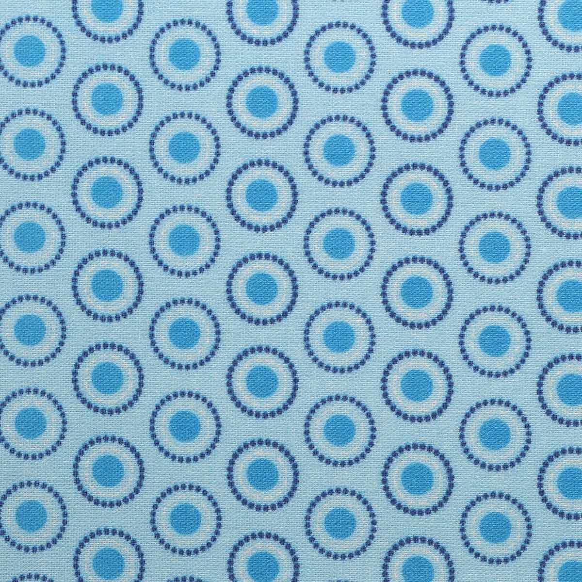 АМ592007 Ткань 'Разноцветные круги' №7, 100% хлопок, 120 г/м2, размер 48*50см