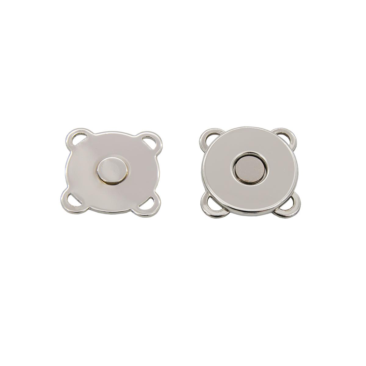 62145 Кнопка магнитная пришивная 18мм никель упак(4шт) Hobby&Pro