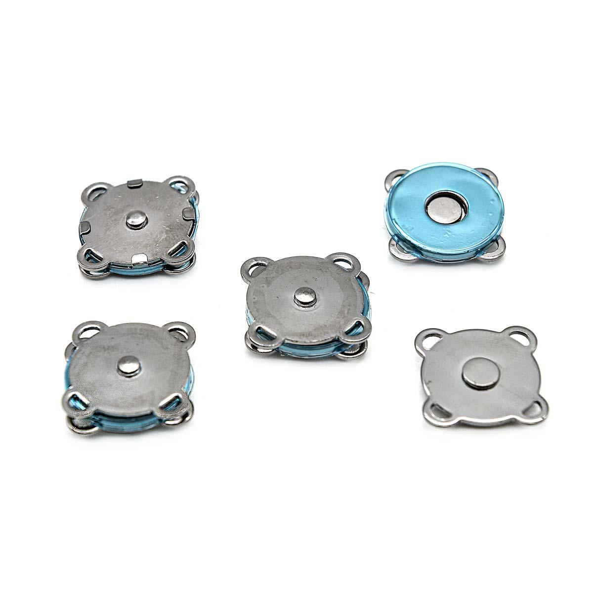 Кнопка магнитная, пришивная 62146, 18 мм черный никель, упаковка, 4 шт., Hobby&Pro