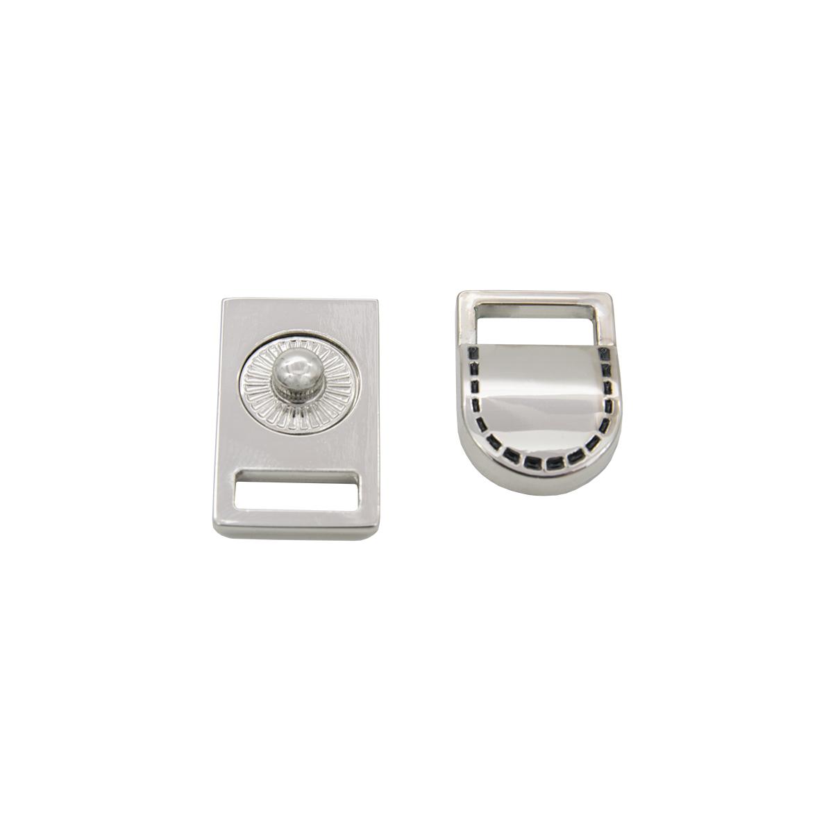 62280 Застежка с кнопкой 10,5мм ник/чер.отстрочка упак(1шт) Hobby&Pro