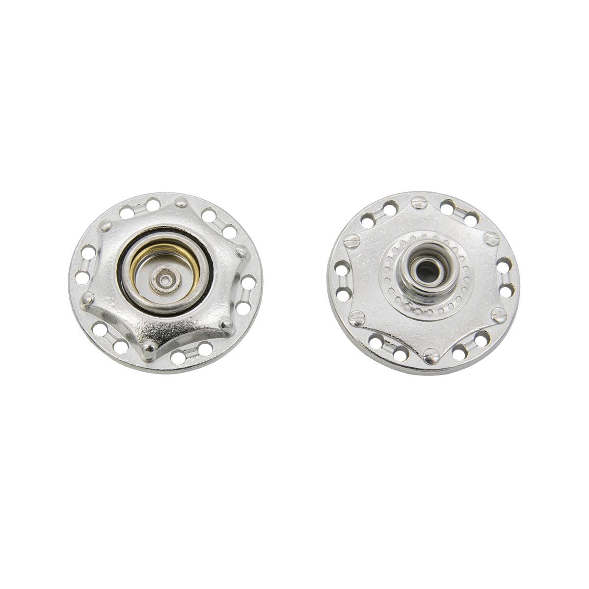 Кнопка пришивная 63880, d=24 мм, никель, упаковка 4 шт., Hobby&Pro