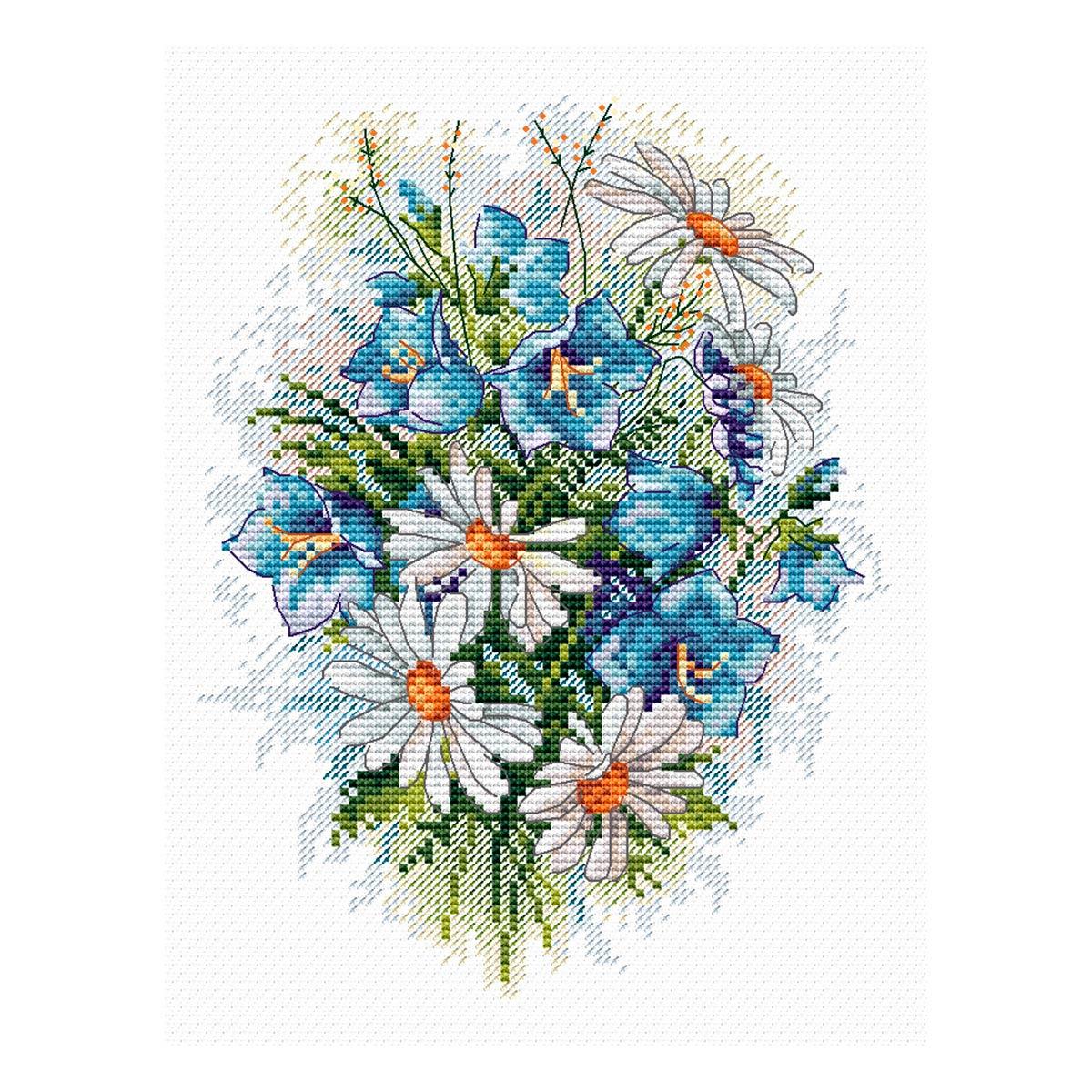 М-120 Набор для вышивания 'МП Студия' 'Луговые цветы', 18*15 см