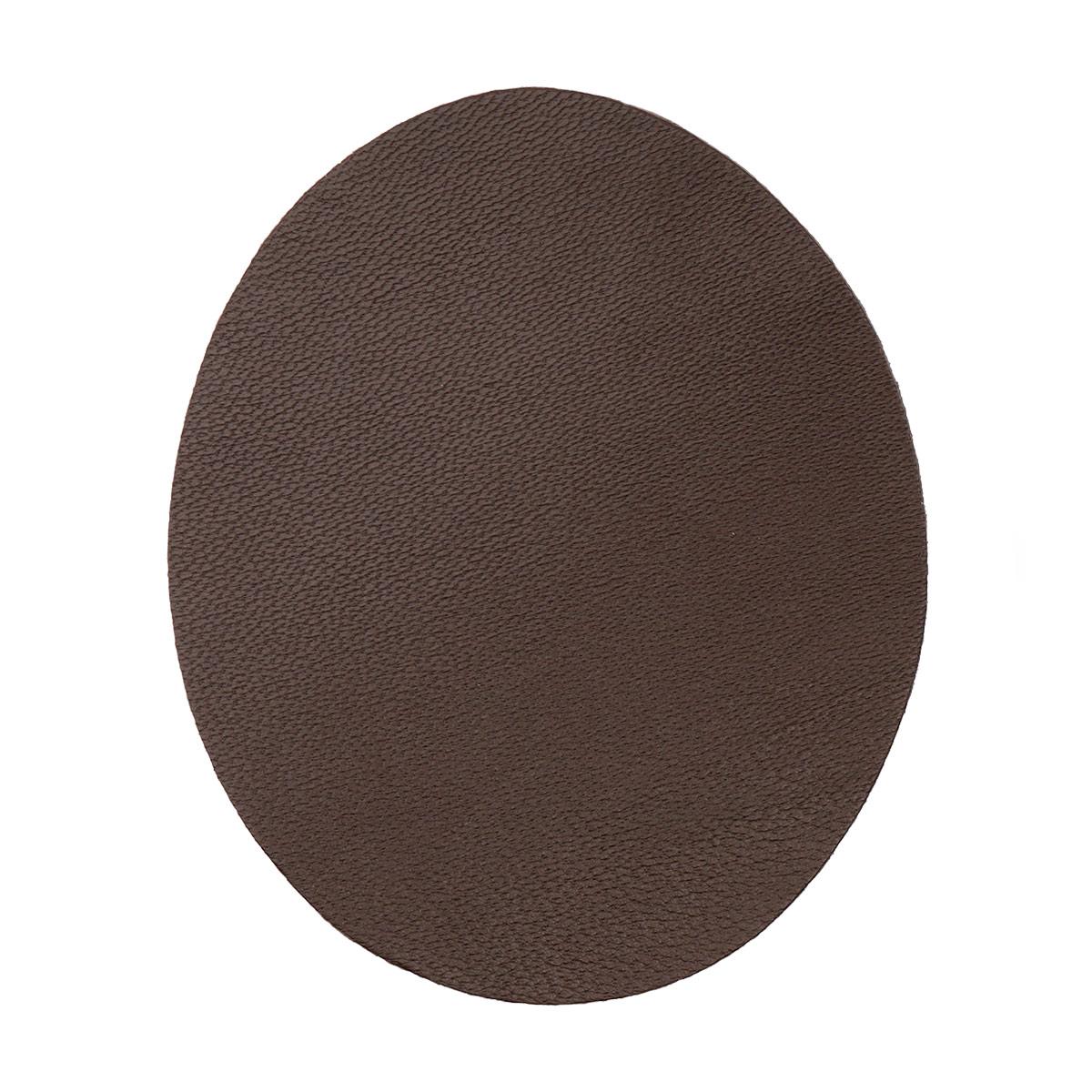 Термоаппликация овал малый, 2шт в уп., 100% кожа