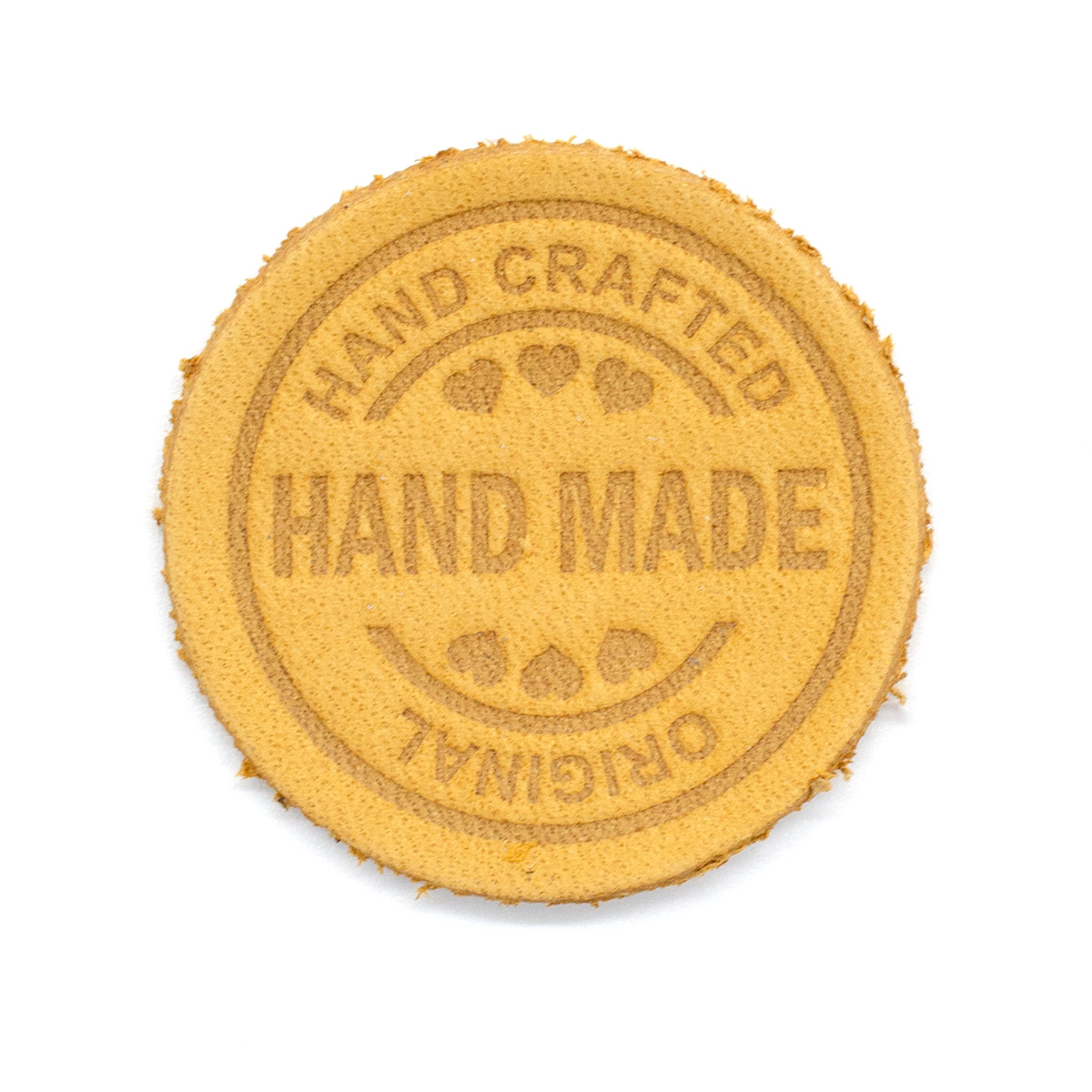 2 Термоаппликация из кожи Hand Made D3,4см, 100% кожа