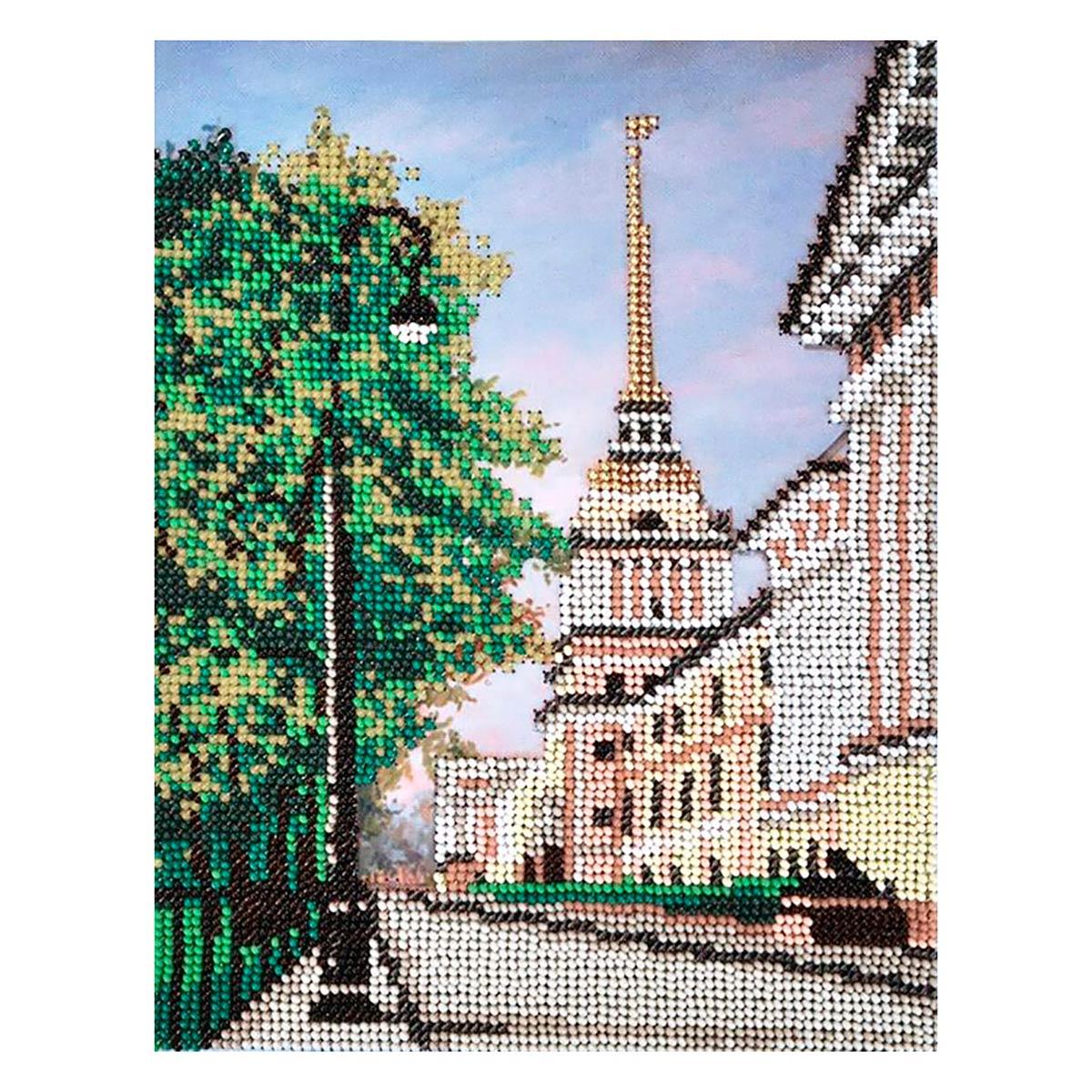 БН-3213 Набор для вышивания бисером Hobby&Pro 'Александровский сад' 17*21,5см