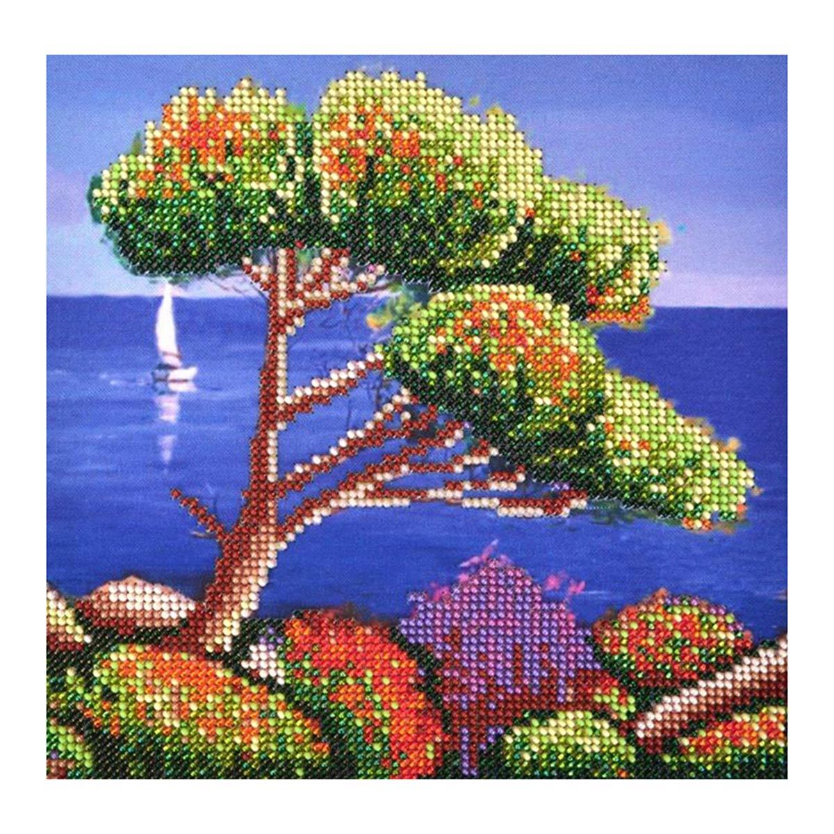 БН-3225 Набор для вышивания бисером Hobby&Pro 'Южный берег' 19,5*19,5