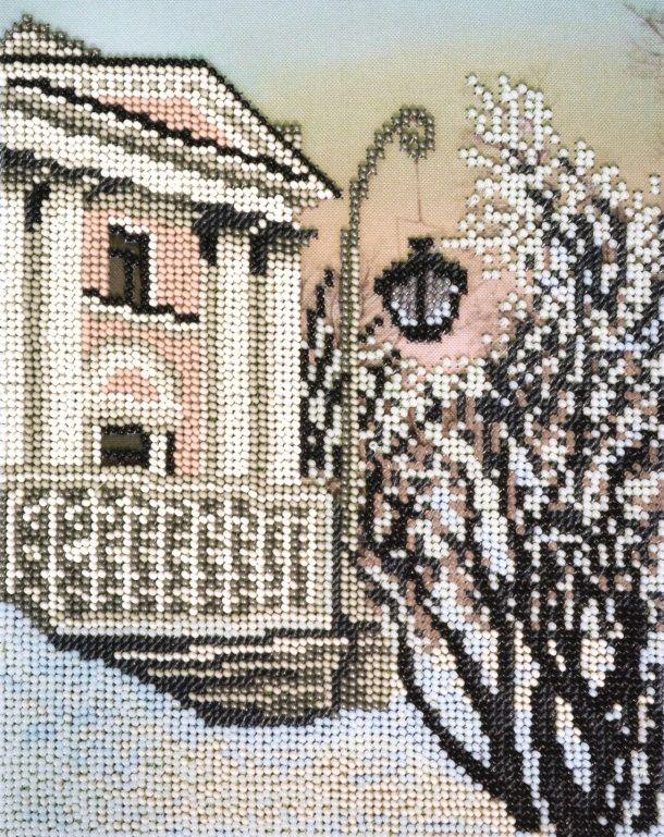 БН-3228 Набор для вышивания бисером Hobby&Pro 'Елагин дворец' 17*21,5 см