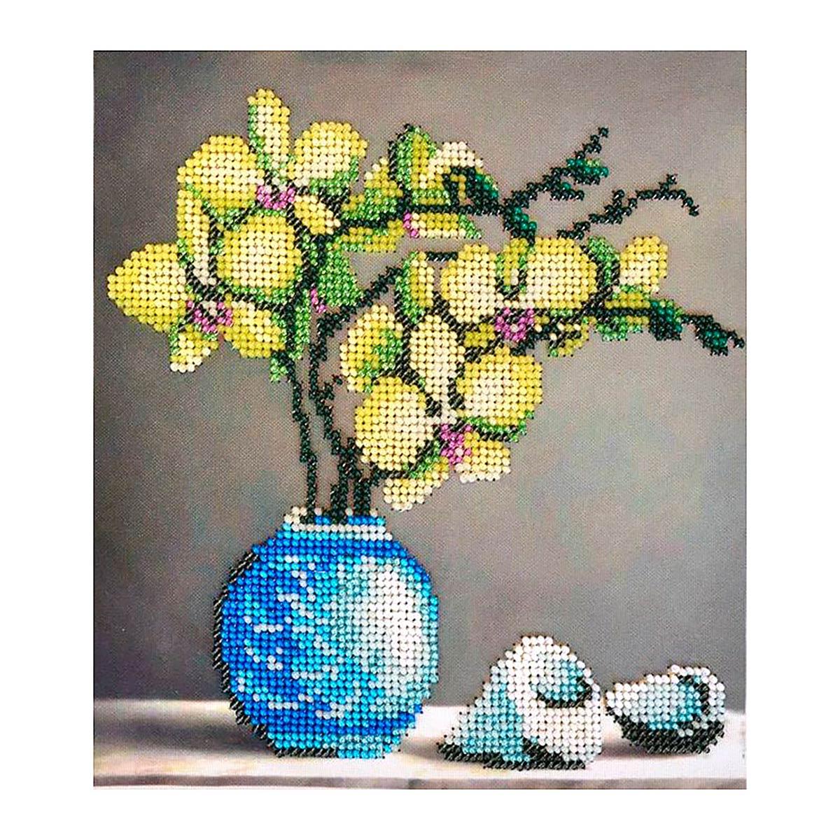 БН-3231 Набор для вышивания бисером Hobby&Pro 'Орхидеи' 17*20 см