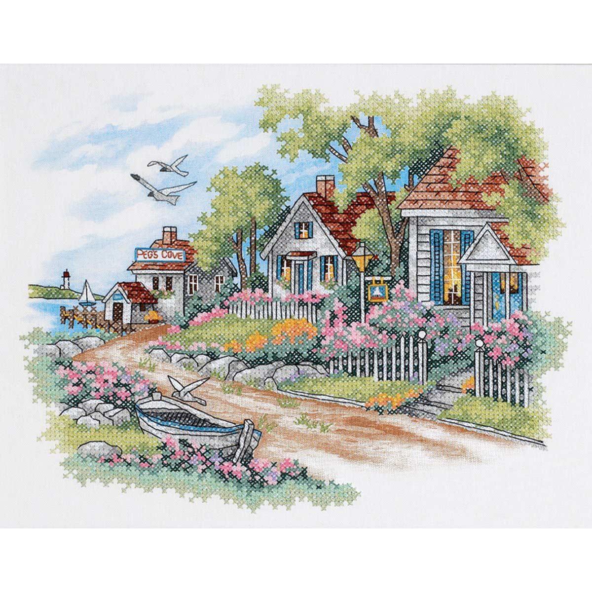 3240-DMS Набор для вышивания Dimensions 'Дом у моря' 36*28см