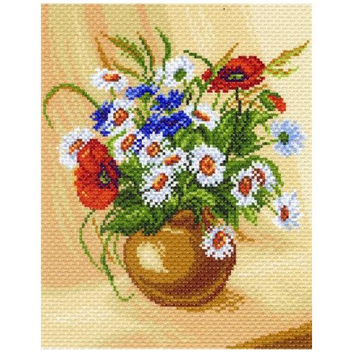 1219-1 Канва с рисунком Матренин посад 'Букет полевых цветов'24*30см (28*37см)